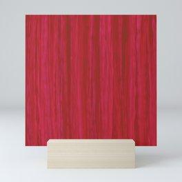 Strawberry Colored Vertical Stripes Mini Art Print