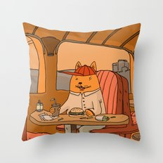 American Fast Food Throw Pillow