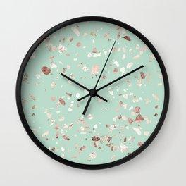 Minty Pink Wall Clock