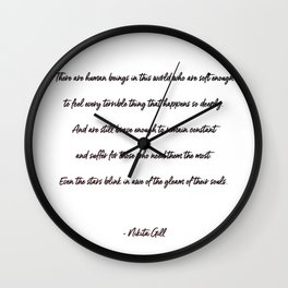 the gleam of their souls Wall Clock
