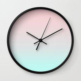 Pastel Coral Mint Gradient Wall Clock