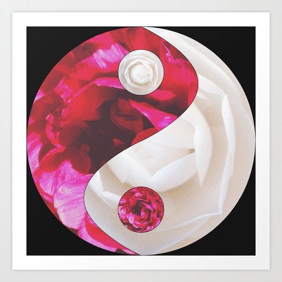Flower Yin Yang Art Print
