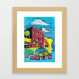 Magenta Brownstone Framed Art Print