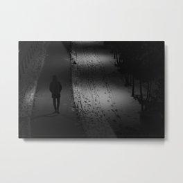 lonely walk Metal Print