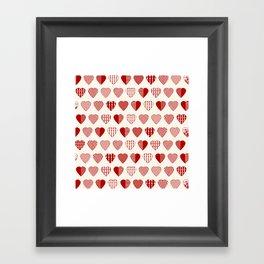 AFE Red Hearts Framed Art Print