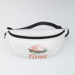 Retro I'd Rather Be Flying Airplane Pilot License Fanny Pack