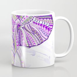 Purple Ethnic Elephant Coffee Mug