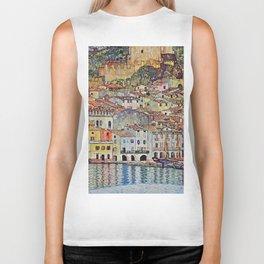 "Gustav Klimt ""Malcesine on Lake Garda"" Biker Tank"