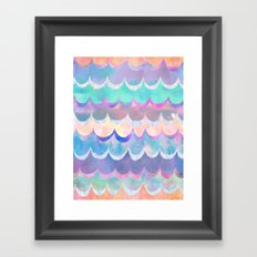 Mia Wave {Aqua} Framed Art Print