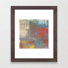 Multicolor Brush Strokes Framed Art Print