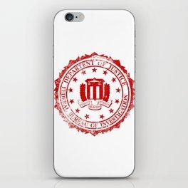 FBI Rubber Stamp iPhone Skin