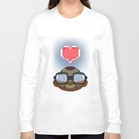video games Long Sleeve T-shirts featuring I love Video Games  by Shihab Aldeen