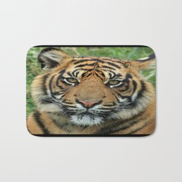 Graceful Gaze 🐾 Bengal Tiger Bath Mat