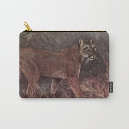 Vintage Puma Painting (1909) Carry-All Pouch