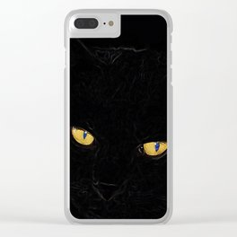 Halloween Black Cat 2 Clear iPhone Case