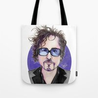tim shumate Tote Bags featuring TIM BURTON by ●•VINCE•●