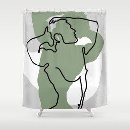 NOODDOOD Lines 16 Shower Curtain
