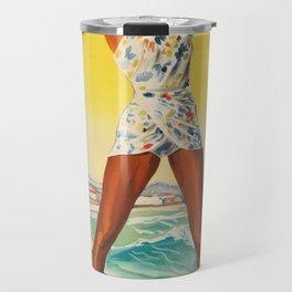 Vintage Travel Biarritz Travel Mug