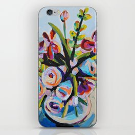 Clothed - Purple Bouquet iPhone Skin