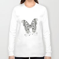 atlas Long Sleeve T-shirts featuring Atlas Moth by Anya Raczka