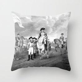 Surrender Of Lord Cornwallis At Yorktown Throw Pillow
