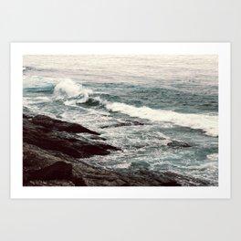 Cyan Sea #2 Art Print