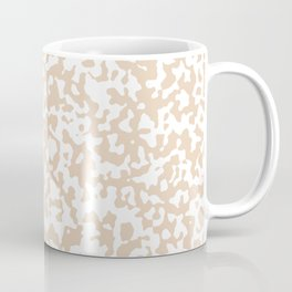Small Spots - White and Pastel Brown Coffee Mug