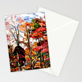 Autumn, Crotona Park, Bronx by Abraham A. Manievich - Vintage Painting Stationery Cards