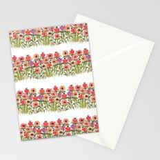 Flower stripe garden Stationery Cards