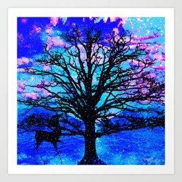 TREES AND STARS Art Print