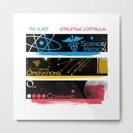 SpaceTime Continuum Metal Print