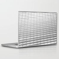 gray pattern Laptop & iPad Skins featuring Gray Pattern by theGalary