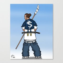 Street Samurai Series - Dragon Back Canvas Print