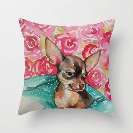 lola chihuahua Throw Pillow