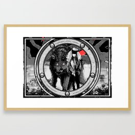 Tenebrarum domina luporum Framed Art Print