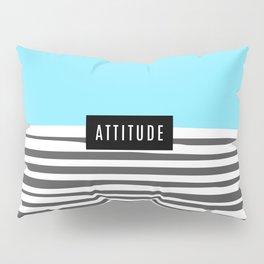 Design Blue Stripes Attitude Pillow Sham