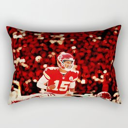 Chiefs Mahomes before the snap Rectangular Pillow