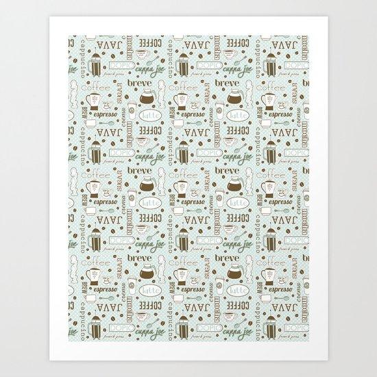 Java me crazy Art Print