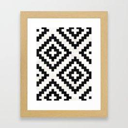 Urban Tribal Pattern No.18 - Aztec - Black and White Concrete Framed Art Print