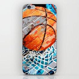 Modern basketball art 3 iPhone Skin