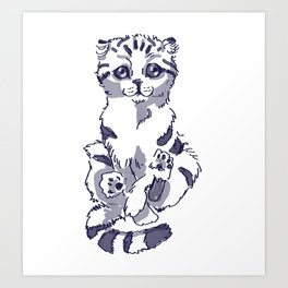 Levitating Cat Art Print