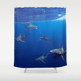 Shark Squad Shower Curtain
