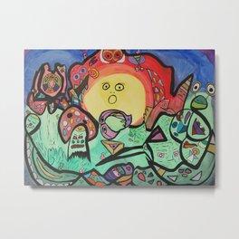 Whimsical symbiosis Metal Print