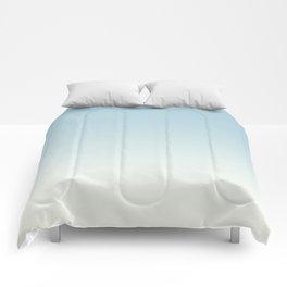 BLUE STRIKES - Minimal Plain Soft Mood Color Blend Prints Comforters