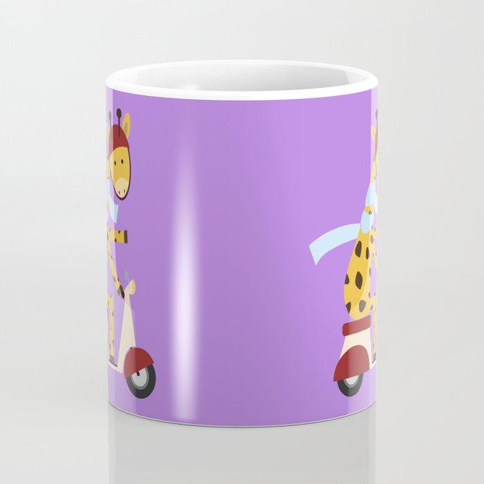 Giraffe on Motor Scooter Coffee Mug