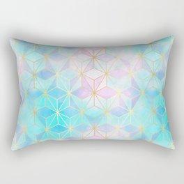 Iridescent Glass Geometric Pattern Rectangular Pillow