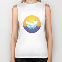 iceland Biker Tanks featuring Tropical Iceland by Otto Brittain