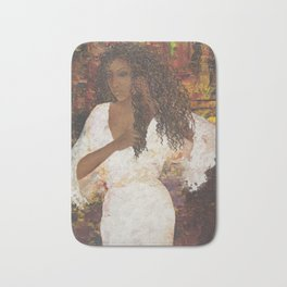 Brazilian Girl in Night Gown Bath Mat