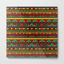 African ethnic tribal ornaments Metal Print