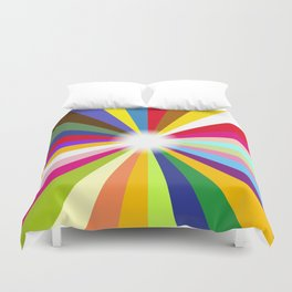 Bright Ray Background Duvet Cover